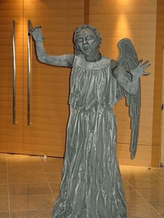 Someone made this weeping angel costume for a contest. If I saw it, I swear I might just pee my pants and pray I didn't blink doing it ...