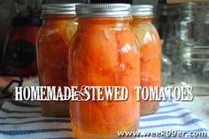 Homemade Stewed Tomatoes - Canning Recipe - Gluten Free!