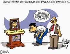 """ITALIAN COMICS - Eccolo qua, il nuovo: l'editto cinese di Matteo e la tribù dei """"nasi turati"""" di Beppe…"""