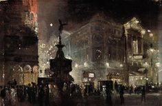 Piccadilly Circus, George Hyde Pownall. English (1876 - 1932)