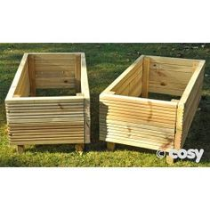 A set of planters at an accessible height for children. These would work really well to create natural dividers in play spaces or for class growing projects.