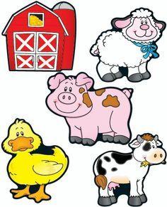 farm animal free printables farm animals digital clip art clipart rh pinterest com farm animal clip art for kids farm animals clip art free