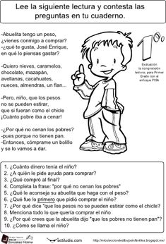 LETRA DE IMPRENTA.Abuelita tengo un peso Spanish Class, Spanish Lessons, Learning Spanish, First Grade, Second Grade, Reading Comprehension, Speech Therapy, How To Memorize Things, Classroom