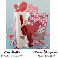 by Ana Santos Gingerbread Cookies, Mini Albums, Scrapbooking, Design, Amor, Santos, Colors, Ginger Cookies, Scrapbook