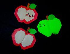 Origami Maniacs 169: Cute Origami Apple/ Manzanita de Origami