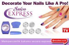 Dapatkan Kuku Cantik Dalam Hitungan Menit Tanpa Harus Ke Salon Menggunakan Nail Art Salon Exspress Ini Hanya Dengan Rp. 35.000,- - www.evoucher.co.id #Promo #Diskon #Jual  Klik > http://evoucher.co.id/deal/Decorate-Your-Nails-Like-A-Pro-Salon-Express  Sekarang kalian dapat membuat kuku sensasional di mana saja dengan Salon Express, Profesional salon hasil dalam hitungan menit. Gunakan Salon Exspress dengan cat kuku - hanya sikat semir ke piring desain, mengikis cat kelebi