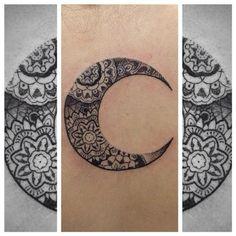 Mandala in a moon