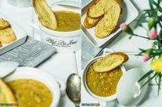 a4ce08c9cd596f Fantastyczny przepis - zupa grochowa w wersji FIT, bez boczku czy kolonki.  Podana z ciepłymi grzankami czosnkowymi.