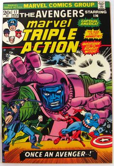 Marvel Triple Action #17 Avengers Captain America Scarlet Witch Comics (1974)