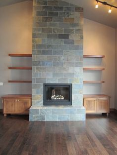 fireplace slate. Clean Lines  Slate Fireplace Our 12 Favorite Indoor and Outdoor Fireplaces Modern fireplaces