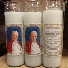 Saint John Paul II Devotional Candle, $3.95.