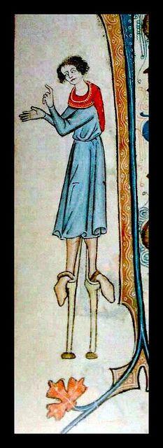 Feast stiltwalker, Luttrell Psalter - by mpt.1607, via Flickr