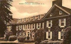 Greensboro North Carolina NC 1930s Bennett College Annie Merner Hall Postcard