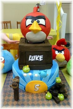 Angry Birds Cake By SparkleKat on CakeCentral.com