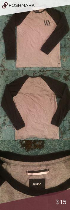 RVCA - Long Sleeve Baseball Style T-shirt RVCA - Long Sleeve Baseball Style T-shirt. Size medium but fits slightly large. Never Worn! RVCA Shirts Tees - Long Sleeve