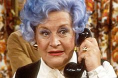 he wears a blue rinse just like his grandmother did in the 1960s