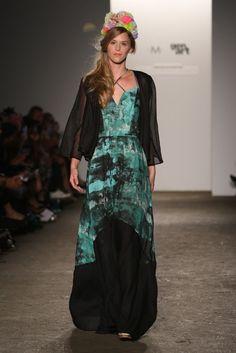 Turquoise and black maxi  Gretchen Jones