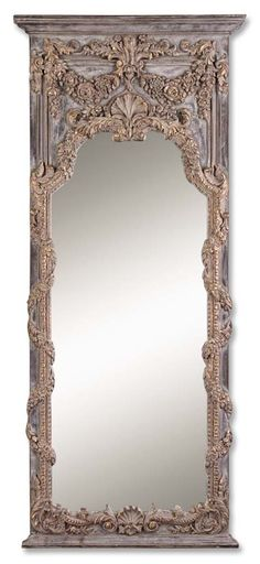Antiqued Vine And Shell Design Mirror $613.00 30 W X 68 H X 3 D