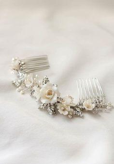 VERSE floral bridal hair comb 8
