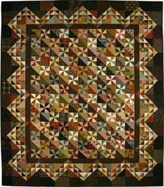 """Pinwheels for Caroline by Lori Smith 51""""x 60"""" with blocks finishing 3""""x 3"""" and 4½""""x 4½"""" (size of the original quilt)"""
