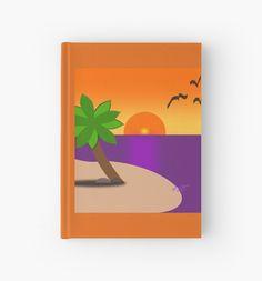 #TropicalIslandScene #HardcoverJournal by #MoonDreamsMusic
