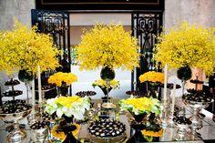 Refletindo nosso AMOR: Decoração Amarelo e Preto