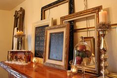 use old frames to decorate with for christmas - Google Search