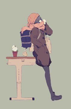 Also What's it like to feel warmth? I hope someday I feel it. Kawaii Anime Girl, Anime Art Girl, Manga Art, Manga Anime, Anime Girls, Character Illustration, Illustration Art, Illustrations, Aesthetic Art