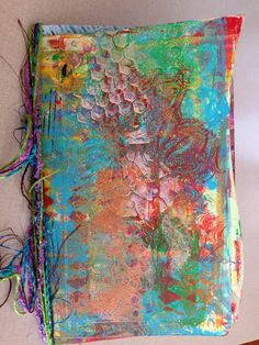Gelli Jam class I have been taking an online class through www.artfulgathering.com this summer. It is taught by Joanna Grant.  We are using our Gelli plates to create pages then books.  I hadn't done much with my plate before class so needed to watch some videos to get some basics.  After I started class I learned a lot and have been having a lot of fun--can I say addicted even  LOL