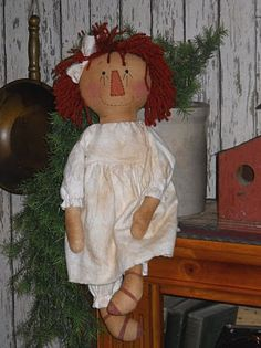 Simple Rag Doll Patterns   The Olde Country Cupboard: Free Simple Annie pattern for you.