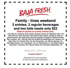 photograph about Baja Fresh Coupons Printable titled 9 Excellent Baja Refreshing Discount coupons illustrations or photos in just 2014 Coupon codes, Refreshing