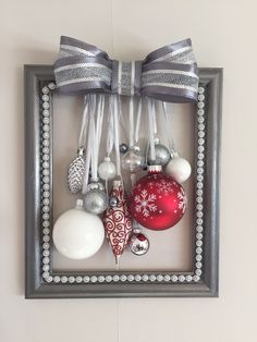 Christmas Holidays, Christmas Crafts, Frame Crafts, Ornament Wreath, No Frills, Frames, Decorations, Wreaths, Gift Ideas