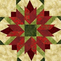 Christmas Block? Want to know how to create this quilt pattern. Click here!  http://onlinequiltingclassesmembership.ning.com/