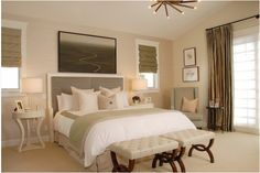 Small nightstands. Queen bed. Key Interiors by Shinay: Traditional Bedroom Design Ideas