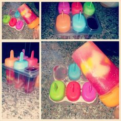 My healthy ice fruits pops