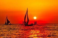 of sailboats & sunsets..    Boracay Island - Voltaire Malazarte