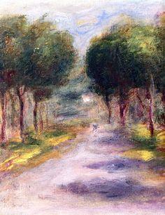 Landscape at Cagnes by Pierre Auguste Renoir (France)