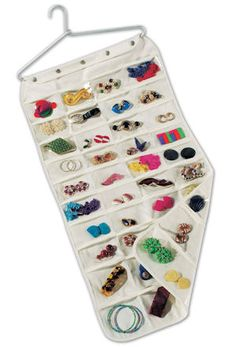 Very clever idea. Much easier to quickly see what might go with an outfit than digging through a jewelry box.