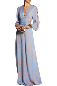 IssaFrancesca printed silk-georgette maxi dressclose up
