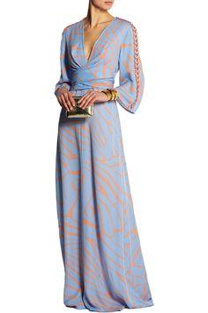 IssaFrancesca printed silk-georgette maxi dressclose up