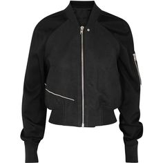 Womens Casual Jackets Rick Owens Black Leather And Satin Crepe Bomber... ($1,360) ❤ liked on Polyvore featuring outerwear, jackets, zip jacket, bomber jacket, rick owens jacket, embroidered jacket and embroidered leather jacket