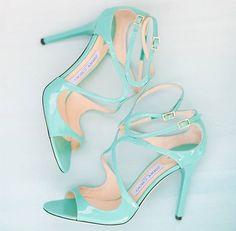 Sandalias de novia de Jimmy Choo en verde agua