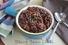 Slow Cooker Black Bean Chili ~ http://veganinthefreezer.com
