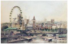 Sherlock Opening - London Watercolor by ~NekoWork on deviantART