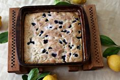 I think this would be wonderful for Christmas morning or any time of the year... Blueberry Buttermilk breakfast cake