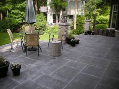 Concrete Patio Design Ideas i like the idea of rounded stairs coming from our patio door Stamped Concrete Patio