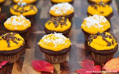I thought these healthy gluten-free chocolate cupcakes with bright orange frosting looked quite festive for halloween. You could even offe...