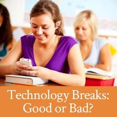 Are technology breaks during homework time helpful or harmful to our kids?
