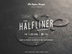 Halfliner Scorebook | Designer: Bethany Heck