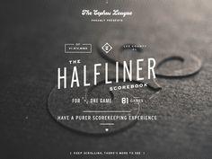 Dribbble - Halfliner Scorebook | Designer: Bethany Heck